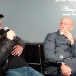 (l-r) Robert Rodriguez and John Malkovich during the q&a screening of 100 YEARS. ©Front Row Features. CR: Angela Dawson.